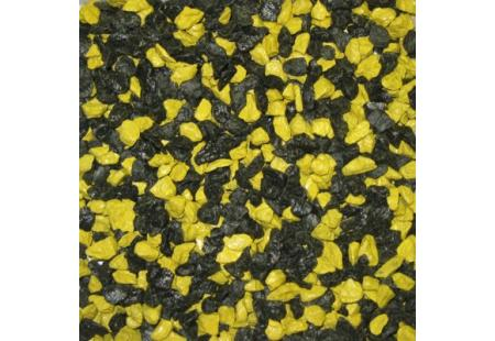 Must-kollane dekoratiivne killustik SANGRIT BLACK-YELLOW