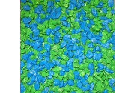 Helesinine-roheline dekoratiivne killustik SANGRIT CYAN-GREEN
